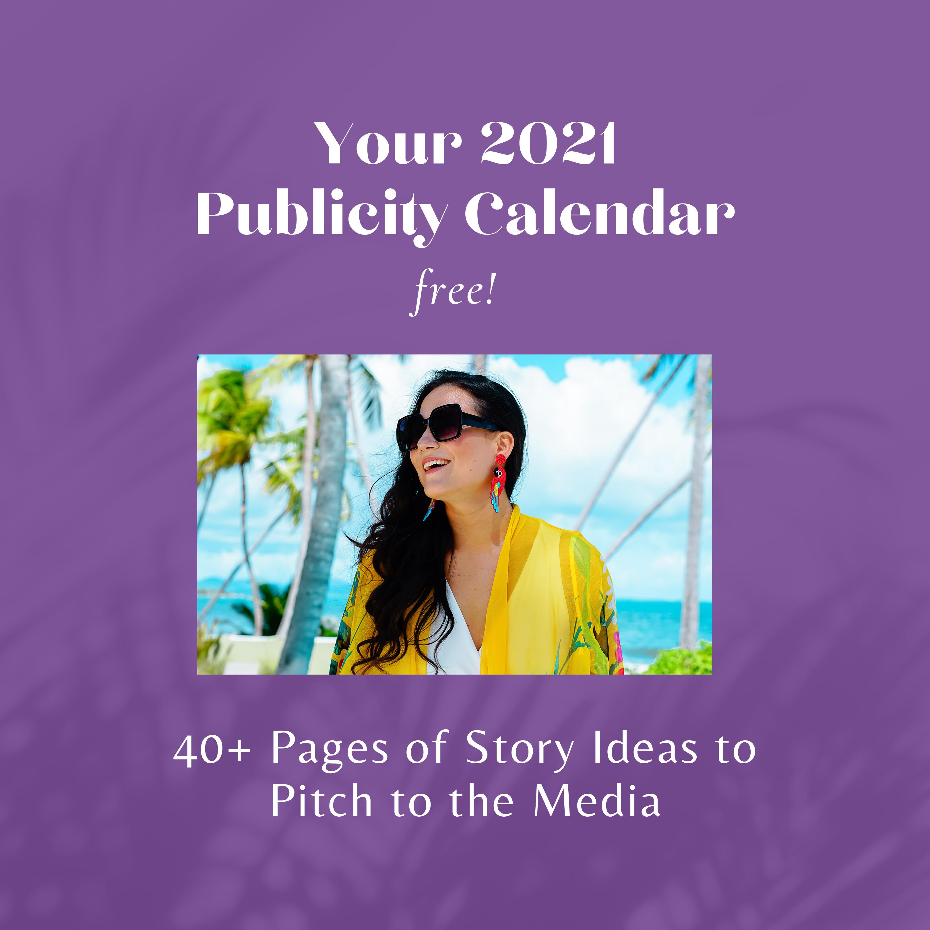 Publicity Calendar 2021